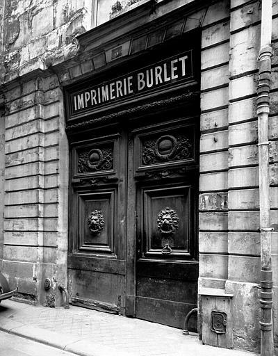 Imprimerie Burlet façade